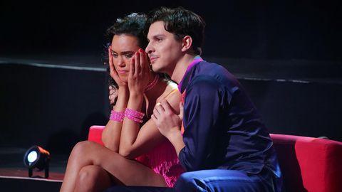 Vanessa Neigert und Alexandru Ionel blicken traurig