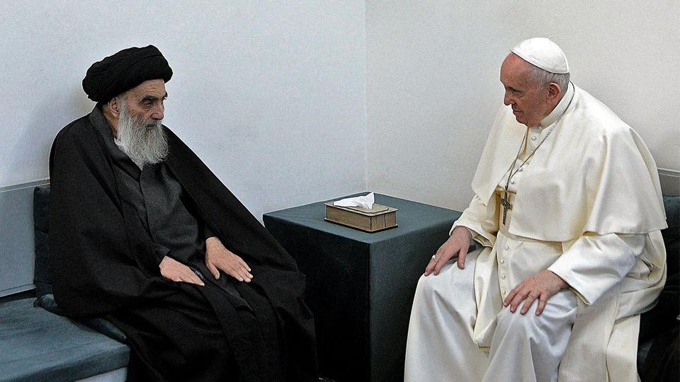 Papst Franziskus trifft Schiitenführer Ayatollah Ali Sistani