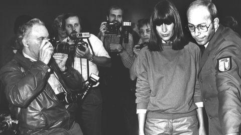 Marianne Bachmeier während ihres Prozesses im November 1982