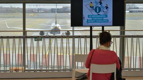 Reiseverbot in Belgien - nichts los am Flughafen Brüssel