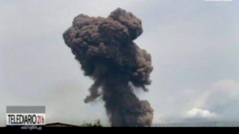 Rauchwolke nach Explosion in Äquatorialguinea