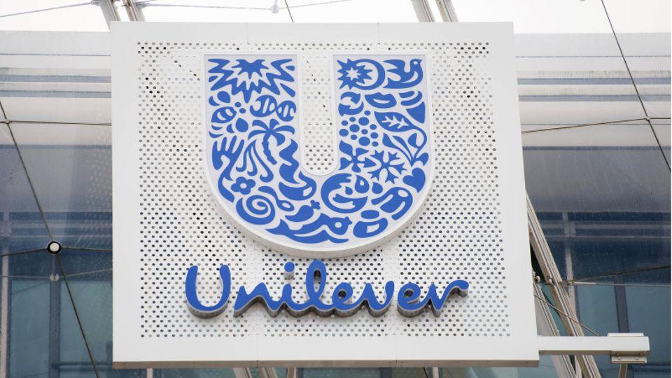 Das blaue U im Logo des Konzerns Unilever