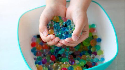 Wasserperlen sind zum Spielen geeignet