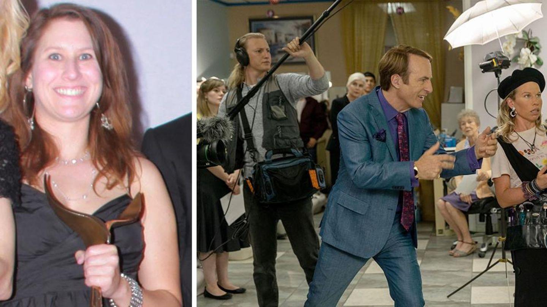 """Drehbuchautorin Gennifer Hutchison und eine Szene aus """"Better Call Saul"""""""