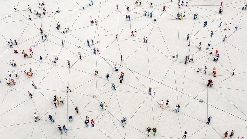 Menschen vernetzt