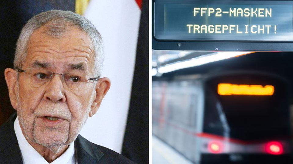 Links spricht ein weißhaariger Mann mit randloser Brille, rechts leuchten die Rücklichter einer U-Bahn in einem Bahnhof