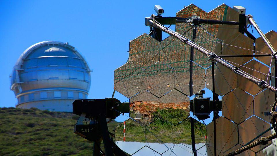 Den Sternen ganz nah: Das MAGIC-Teleskop am Roque de los Muchachos aufLa Palma,