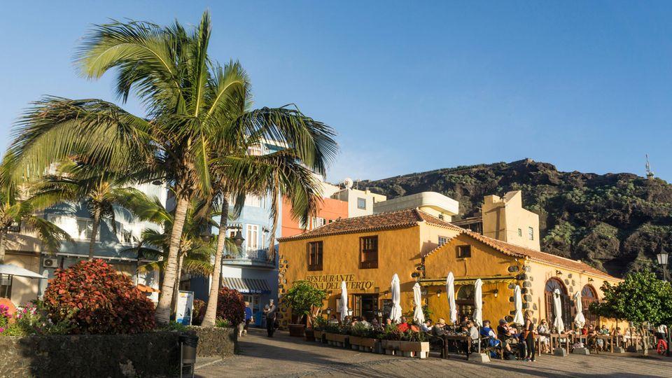 Die Taberna, ein Fischrestaurantin Puerto de Tazacort an der Westküste vonLa Palma
