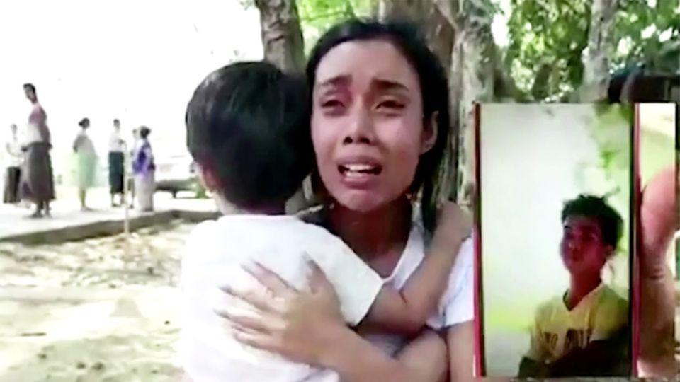Myanmar: Polizisten erschießen kleines Mädchen, das bei seinem Vater Schutz sucht
