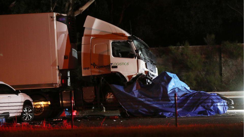 Bei dem Unfall in Melbourne im vergangenen April starben vier Polizisten