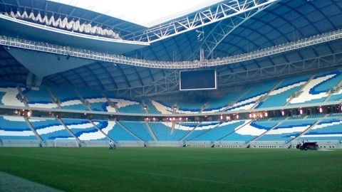 DasAl Janoub Stadiumin Katar, 17 Kilometer von Doha entfernt, ist eines der WM-Stadien und hat aktuell einen Rasen