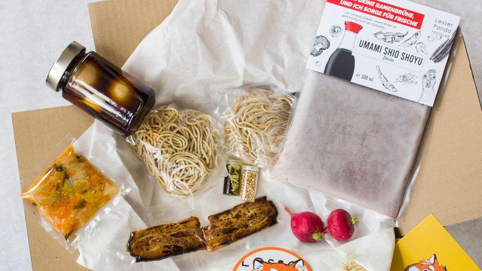 Erfolgspaket von Lesser Panda: Die Ramen-Kochbox mit allen Zutaten für Zuhause
