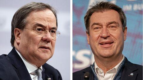 CDU-Parteichef Armin Laschet und CSU-Bundesvorsitzender Markus Söder