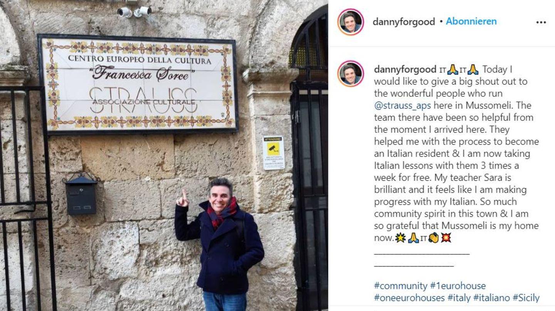 Danny McCubbin hat sich für einen Euro ein Haus auf Sizilien gekauft und bereut es keinen Tag