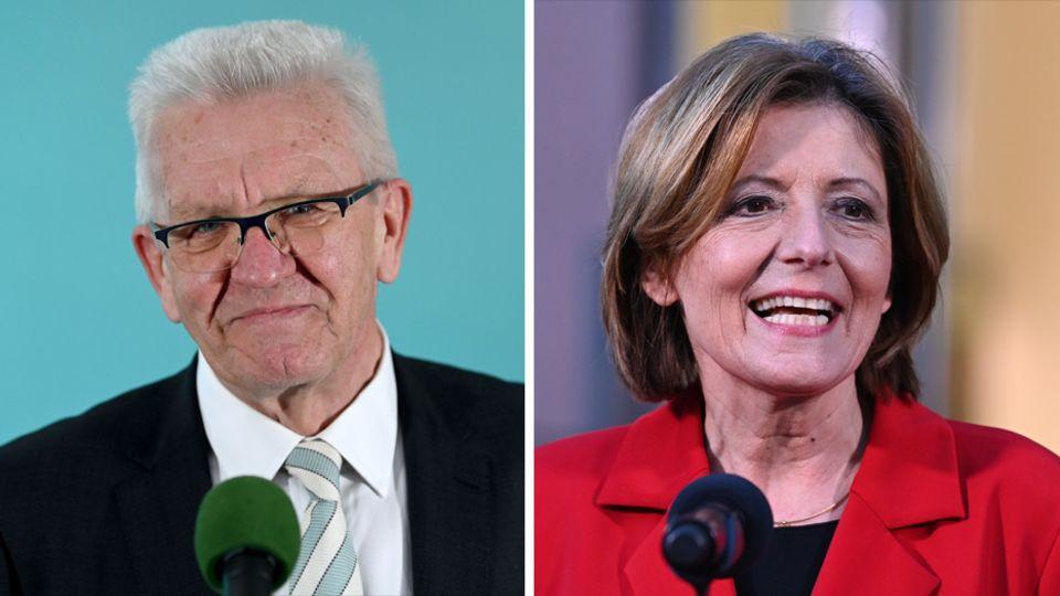 Winfried Kretschmann und Malu Dreyer