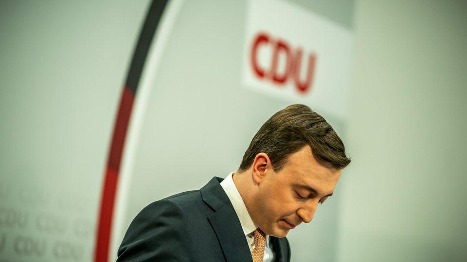 CDU-Generalsekretär Paul Ziemiak nach den Landtagswahlen in Baden-Württemberg und Rheinland-Pfalz