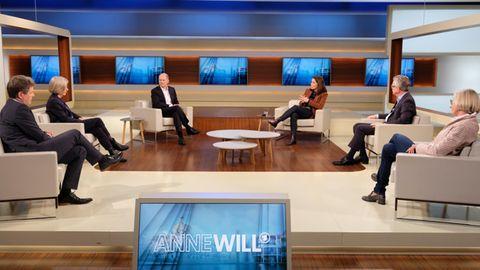 """Die Runde bei """"Anne Will"""" diskutiert über den Start in das Superwahljahr"""
