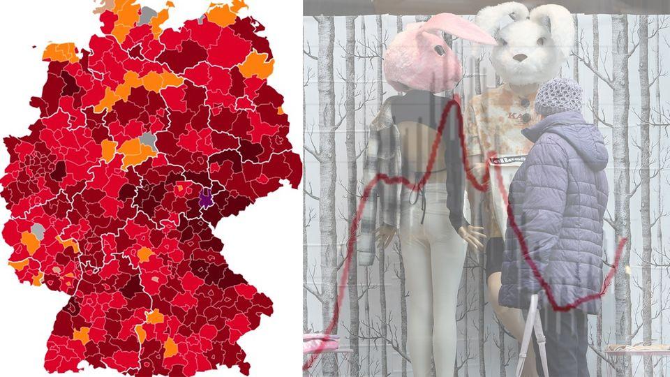 Le nombre de nouvelles infections augmente rapidement - trois États ont une incidence supérieure à 100 %.