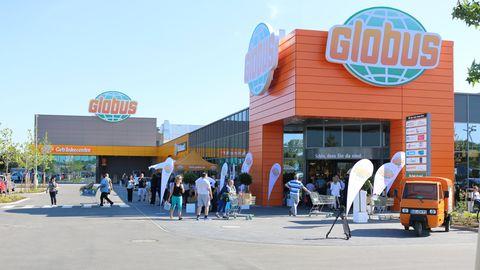 Eine Filiale der Supermarktkette Globus