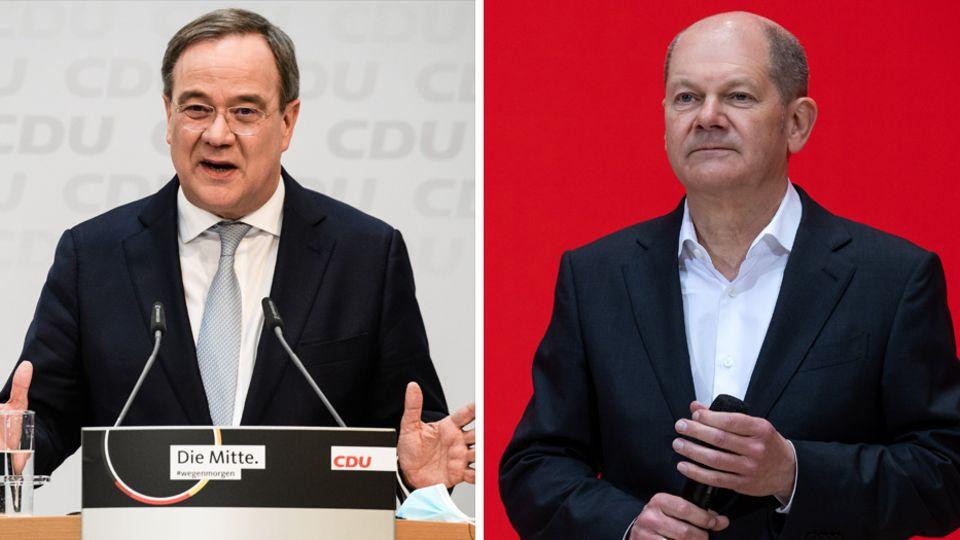CDU-Parteichef Armin Laschet (l.) und Bundesfinanzminister Olaf Scholz (SPD)
