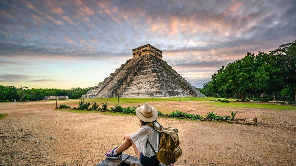 Noch in weiter Ferne: Ruinenstätte Chichén Itzá auf der mexikanischen Halbinsel Yukatán