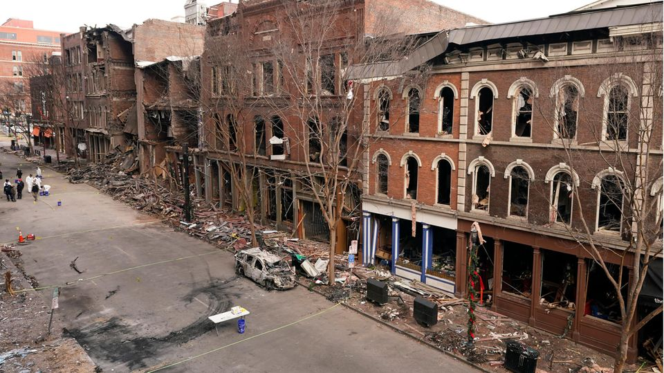 Bombenexplosion in Nashville im Dezember des vergangenen Jahres.