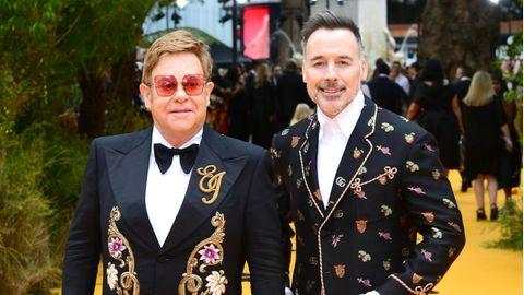 Musiker Elton John und Ehemann David Furnish