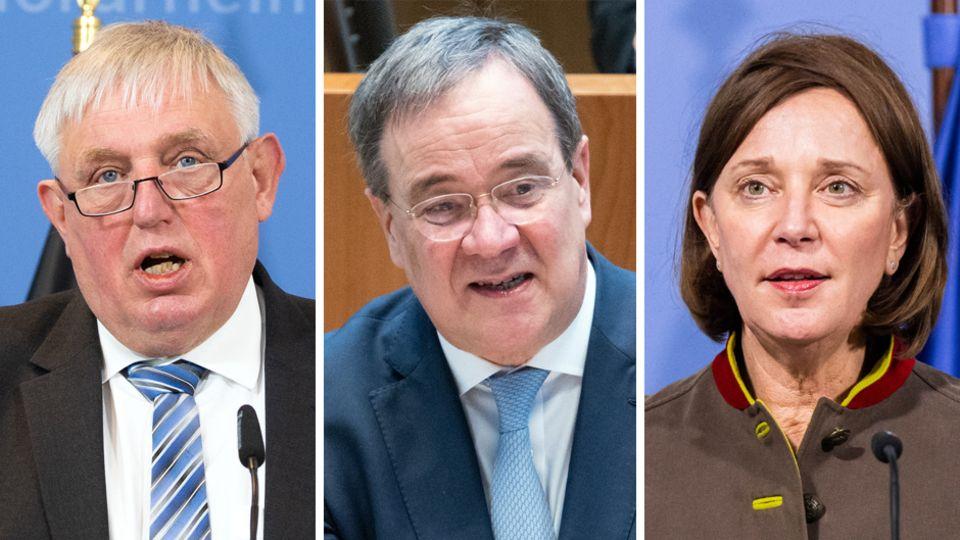 Streit über Schulöffnungen in der Coronavirus-Pandemie in NRW: Karl-Josef Laumann, Armin Laschet, Yvonne Gebauer