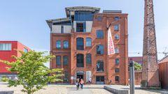 Das Museum der Arbeitliegt auf dem Gelände einer ehemaligen Gummifabrik. Hier wurde auch Kautschuk aus ehemaligen deutschen Kolonialgebieten verarbeitet.