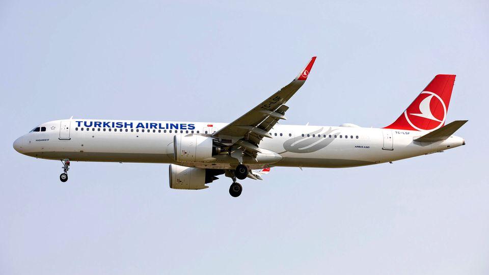 Ein Airbus vom Typ A321neo von Turkish Airlines