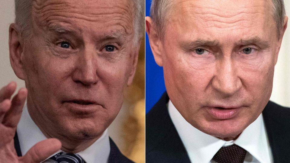 Präsidentenzoff: Joe Biden (l.) und Wladimir Putin