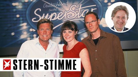 Damals, 2002: Dieter Bohlen und seine Mit-Juroren Shona Fraser und Thomas Bug kündigen ein neues TV-Format an -DSDS ist geboren