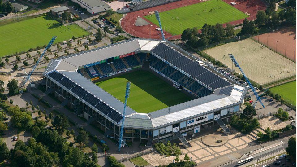 Das Ostseestadion, die Heimspielstätte von Hansa Rostock