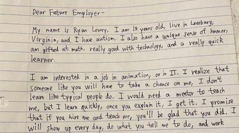Brief von Ryan Lowry