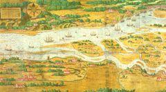 Im 16. Jahrhundert bewiesen die Hamburger noch einmal Kreativität: Mehrere Städte hatten gegen Hamburg geklagt, weil die Stadt ihre Handelsprivilegien auf die Norder- und die Süderelbe ausweiten wollte. Der Maler Melchior Lorichs zeichnete eine Karte, in der die Süderelbe absichtlich viel zu schmal dargestellt war.