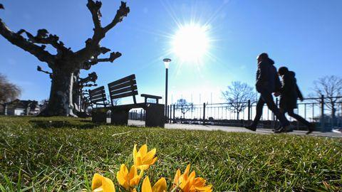 Coronavirus Frühling: Spaziergang bei gutem Wetter