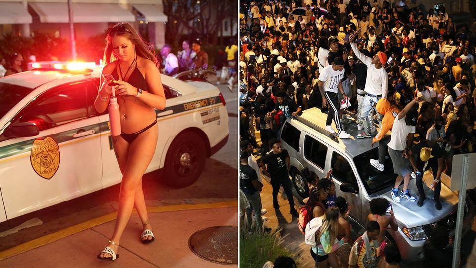 Spring Break: Verstörende Party-Bilder – mehr als 1000 Festnahmen in Miami