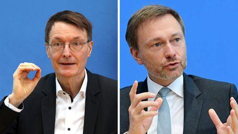 SPD-Gesundheitsexperte Karl Lauterbach (l.) und FDP-Chef Christian Lindner (r.)