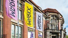 """Im Stadtteil Rotherbaum liegt in unmittelbarer Nachbarschaft zum Grindelviertel das MARKK, das """"Museum am Rothenbaum. Künste und Kulturen der Welt""""."""