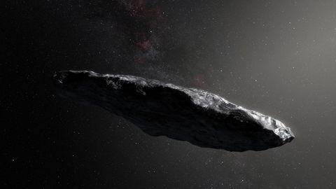 """Künstlerische Darstellung des Asteroiden """"Oumuamua"""""""
