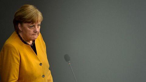 Bundeskanzlerin Angela Merkel (CDU) im Deutschen Bundestag