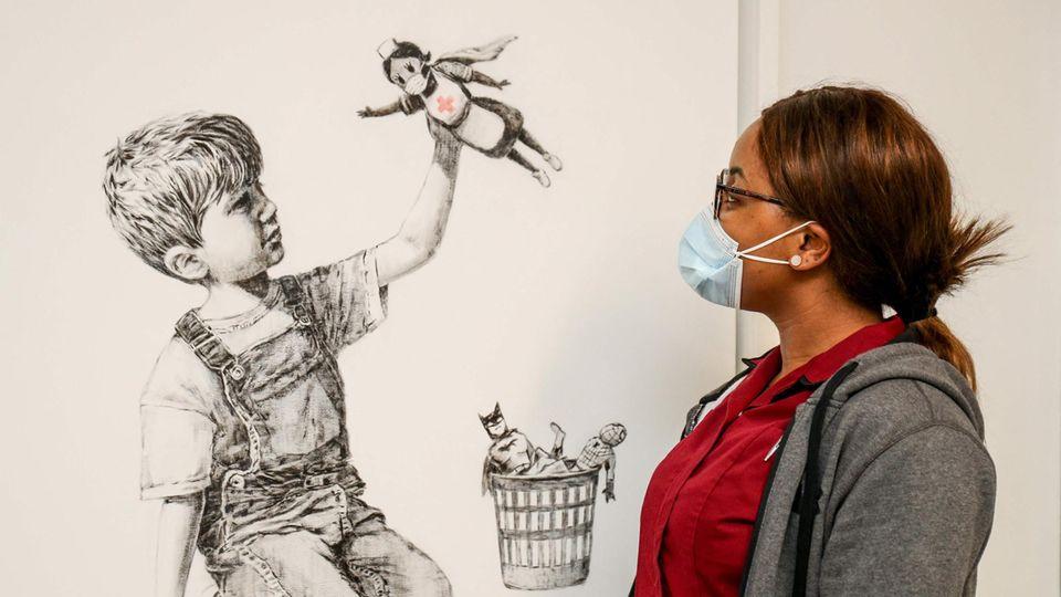 """Banksy-Kunstwerk """"Game Changer"""""""