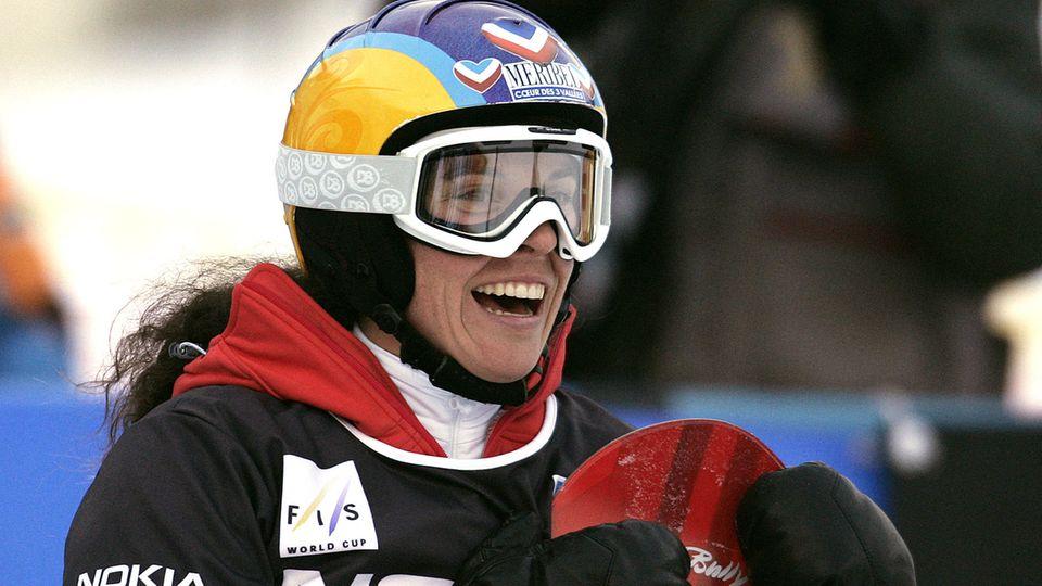 Die Snowborderin Julie Pomagalski im Jahr 2006
