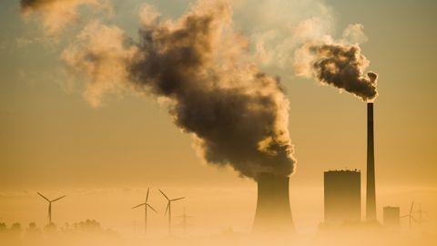 Das Kohlekraftwerk Mehrum in Hohenhameln, Niedersachsen