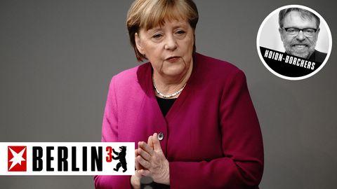 """""""Wir sind alle müde, wir sind mürbe."""" So beginnt Bundeskanzlerin Angela Merkel ihre Regierungserklärung."""