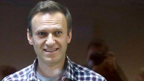 Oppositionsführer Alexej Nawalny im Februar vor dem Bezirksgericht in Moskau