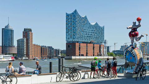 Die Skyline von Hamburg