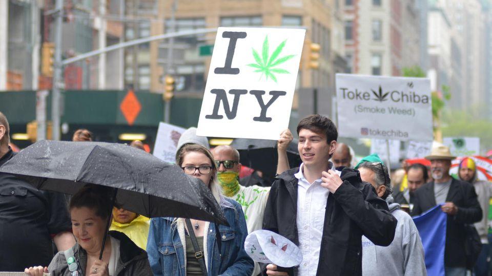 Demonstration für die Legalisierung von Marihuana in New York im Mai 2019