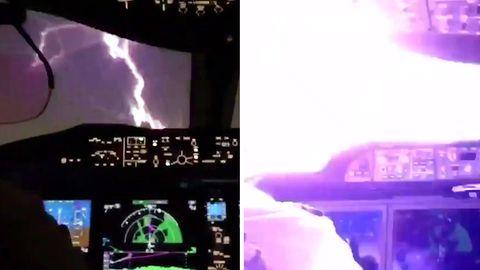 Schrecksekunde im Cockpit: Blitz schlägt in Boeing 737 Max ein