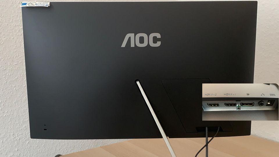 Die Rückseite des AOC Q27T1